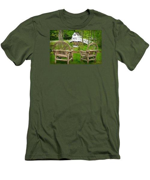 Somesville Maine - Arched Bridge Men's T-Shirt (Athletic Fit)