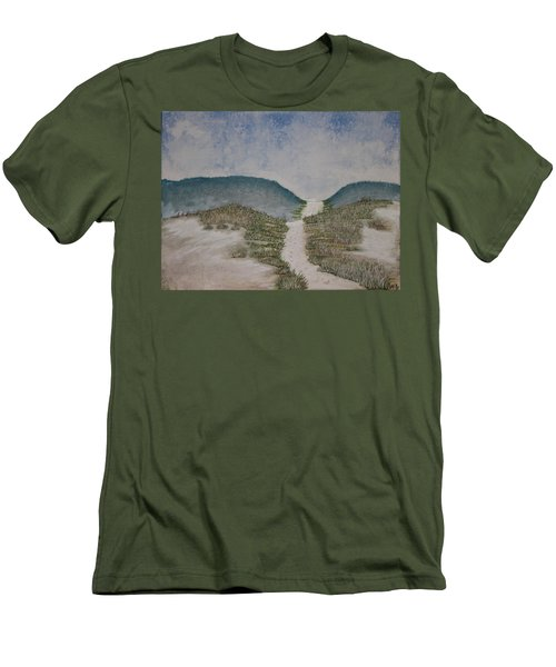Men's T-Shirt (Slim Fit) featuring the painting Somewhere In Florida by Antonio Romero