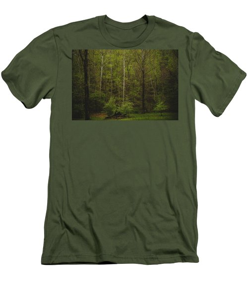 Men's T-Shirt (Slim Fit) featuring the photograph Somewhere In The Woods by Shane Holsclaw