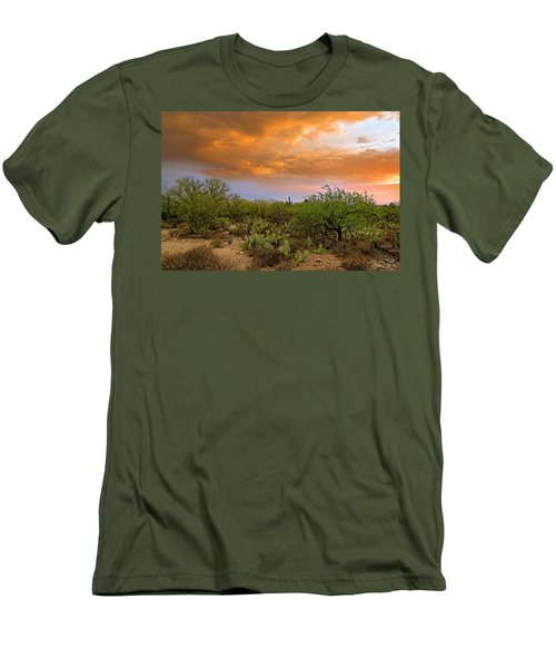 Men's T-Shirt (Athletic Fit) featuring the photograph Sonoran Desert H11 by Mark Myhaver