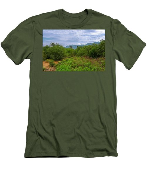 Men's T-Shirt (Athletic Fit) featuring the photograph Sonoran Greenery H30 by Mark Myhaver