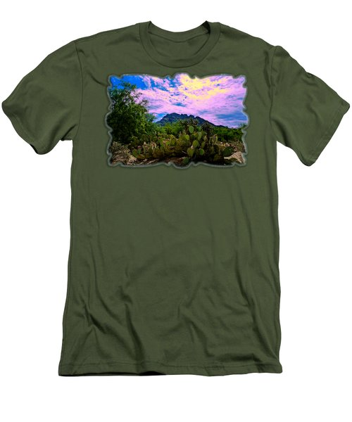 Sonoran Morning H54 Men's T-Shirt (Slim Fit) by Mark Myhaver