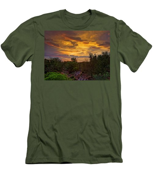 Men's T-Shirt (Athletic Fit) featuring the photograph Sonoran Sonata H01 by Mark Myhaver