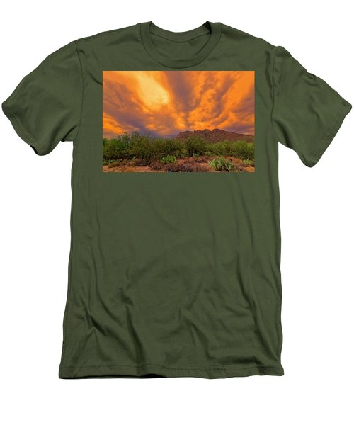 Men's T-Shirt (Athletic Fit) featuring the photograph Sonoran Sonata H16 by Mark Myhaver