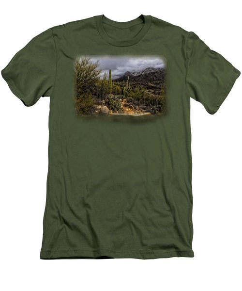Sonoran Winter No.3 Men's T-Shirt (Slim Fit) by Mark Myhaver