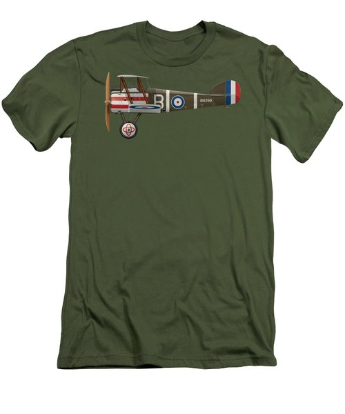 Sopwith Camel - B6299 - Side Profile View Men's T-Shirt (Slim Fit) by Ed Jackson