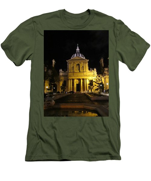 Men's T-Shirt (Slim Fit) featuring the photograph Sorbonne Night by Christopher Kirby
