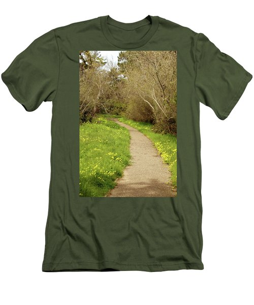 Men's T-Shirt (Slim Fit) featuring the photograph Sour Grass Trail by Art Block Collections
