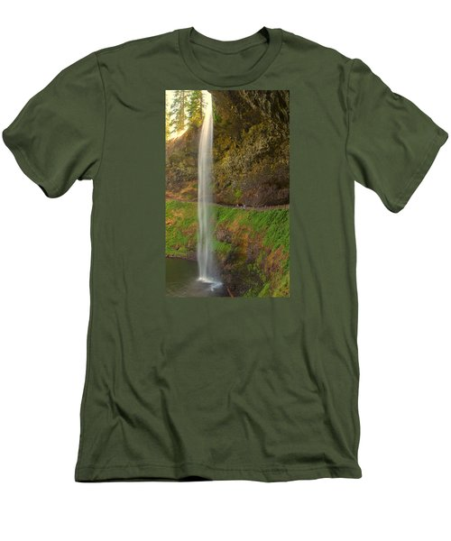 Men's T-Shirt (Slim Fit) featuring the photograph South Falls 0448 by Tom Kelly
