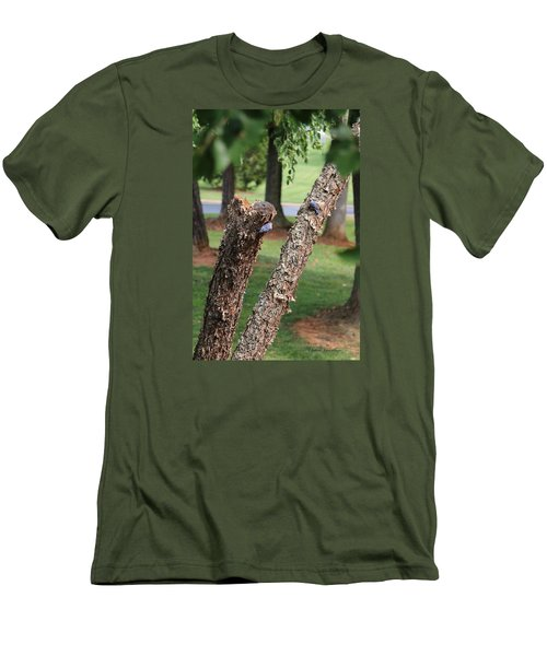 Men's T-Shirt (Slim Fit) featuring the photograph Southern Blue Birds by Debra     Vatalaro