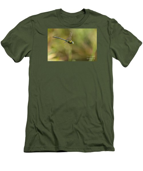 Men's T-Shirt (Slim Fit) featuring the photograph Southern Blue Hawker Male by Jivko Nakev