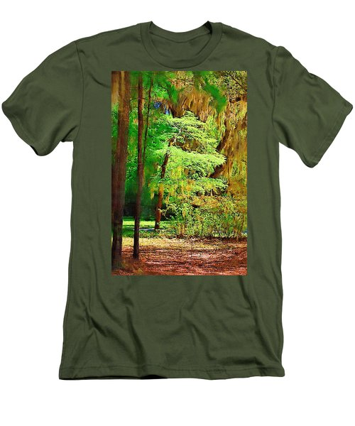 Men's T-Shirt (Slim Fit) featuring the photograph Southern Forest by Donna Bentley