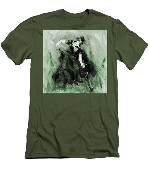 Men's T-Shirt (Slim Fit) featuring the painting Spanish Flamenco Dancer by Gull G