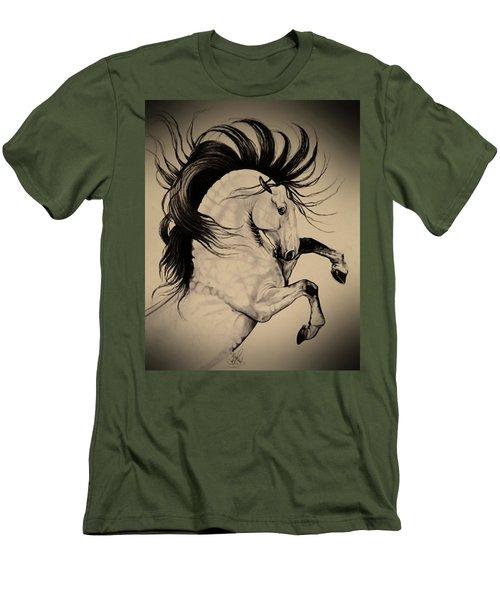 Spanish Horses Men's T-Shirt (Slim Fit) by Cheryl Poland