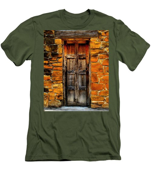 Spanish Mission Door Men's T-Shirt (Athletic Fit)