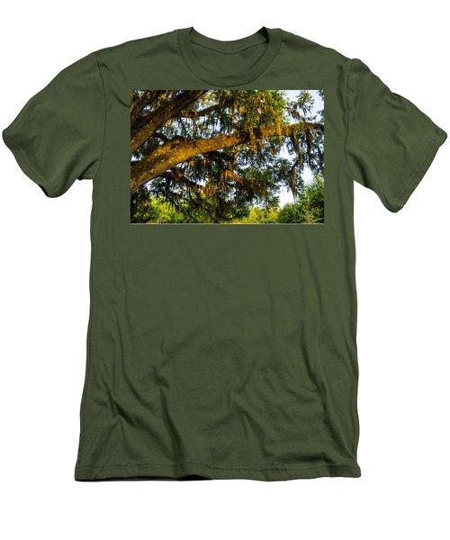 Spanish Moss In The Gloaming Men's T-Shirt (Slim Fit) by Deborah Smolinske