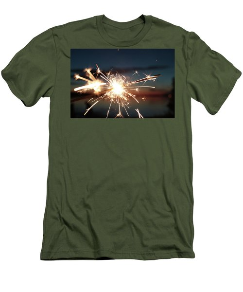 Sparklers After Sunset Men's T-Shirt (Athletic Fit)