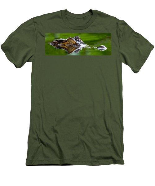 Spectacled Caiman Caiman Crocodilus Men's T-Shirt (Athletic Fit)