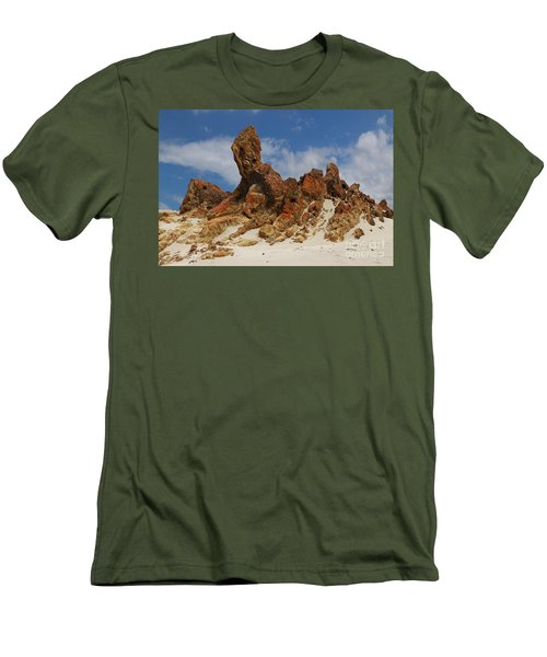 Men's T-Shirt (Slim Fit) featuring the photograph Sphinx Of South Australia by Stephen Mitchell