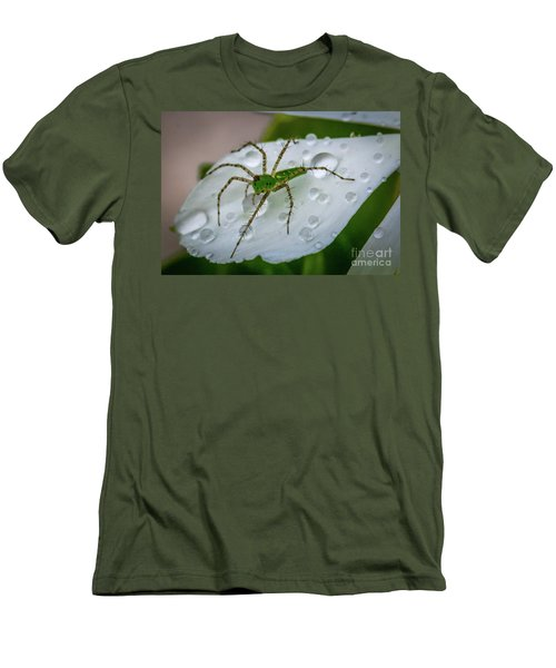 Spider And Flower Petal Men's T-Shirt (Slim Fit) by Tom Claud
