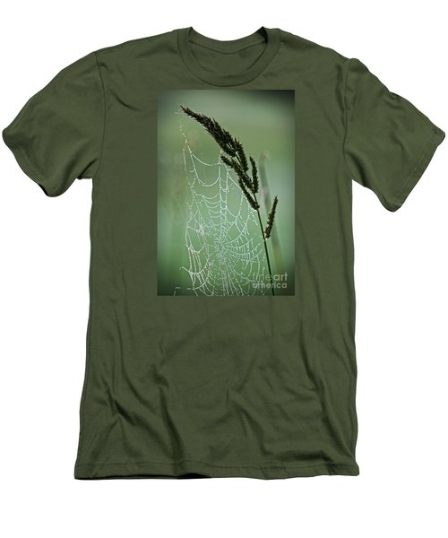 Spider Web Art By Nature Men's T-Shirt (Slim Fit) by Ella Kaye Dickey