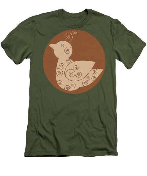 Men's T-Shirt (Slim Fit) featuring the painting Spiral Bird by Frank Tschakert