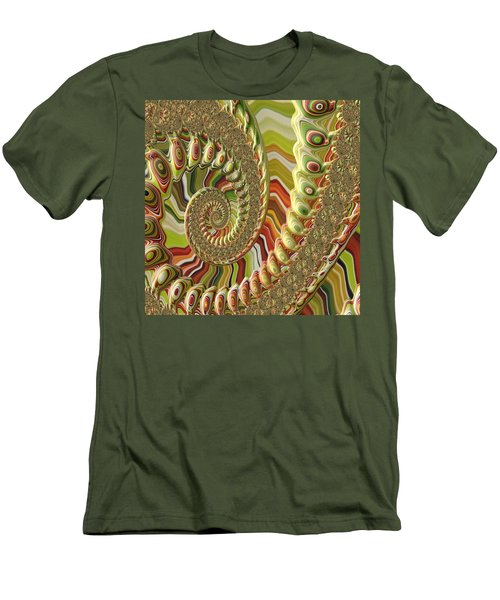 Men's T-Shirt (Slim Fit) featuring the photograph Spiral Fractal by Bonnie Bruno