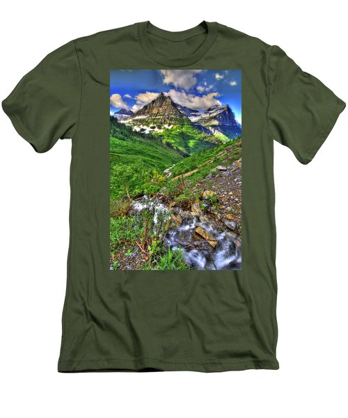 Spires And Stream Men's T-Shirt (Slim Fit) by Scott Mahon