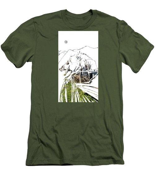 Spirit Animal . Wolverine Men's T-Shirt (Slim Fit) by John Jr Gholson
