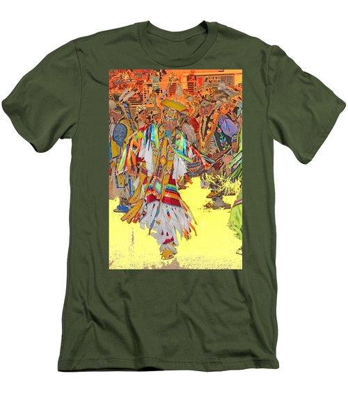Spirited Moves Men's T-Shirt (Slim Fit) by Audrey Robillard