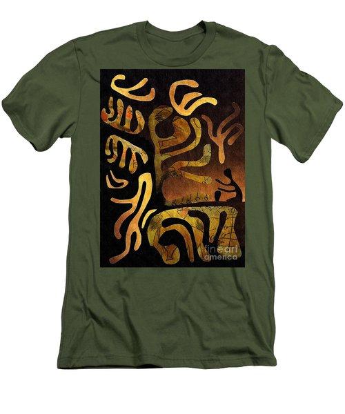 Spiritual Drummer Men's T-Shirt (Slim Fit) by Sarah Loft