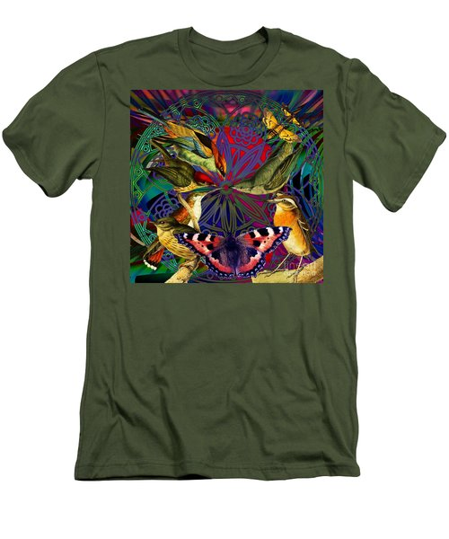 Spiritual Sun Behind The Sun Men's T-Shirt (Athletic Fit)
