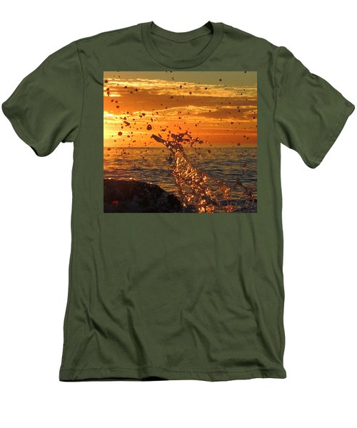 Men's T-Shirt (Slim Fit) featuring the photograph Splash by Linda Hollis