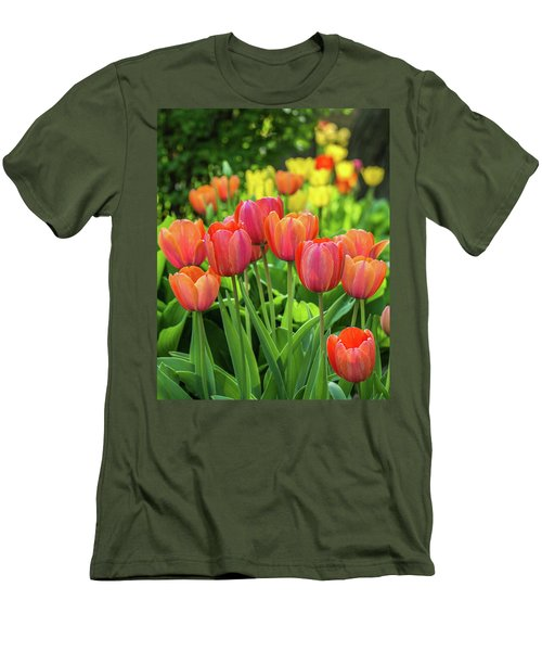 Men's T-Shirt (Athletic Fit) featuring the photograph Splash Of April Color by Bill Pevlor