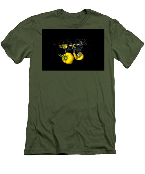 Splash Of  Pepper And Lemon Men's T-Shirt (Athletic Fit)