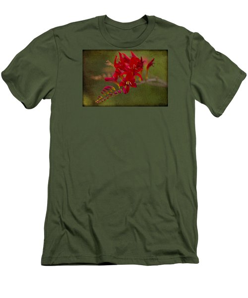 Splash Of Red. Men's T-Shirt (Slim Fit) by Clare Bambers