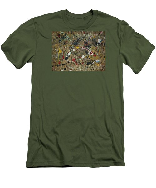 Men's T-Shirt (Slim Fit) featuring the painting Splattered by Jacqueline Athmann