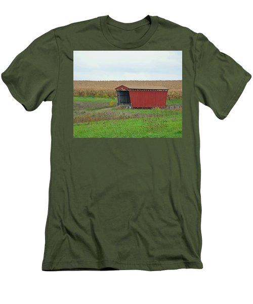 Splinter Covered Bridge Men's T-Shirt (Athletic Fit)