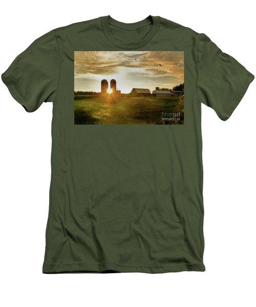 Split Silo Sunset Men's T-Shirt (Athletic Fit)