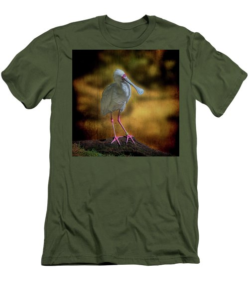 Men's T-Shirt (Athletic Fit) featuring the photograph Spoonbill by Lewis Mann
