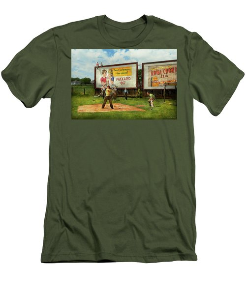 Sport - Baseball - America's Past Time 1943 Men's T-Shirt (Slim Fit) by Mike Savad