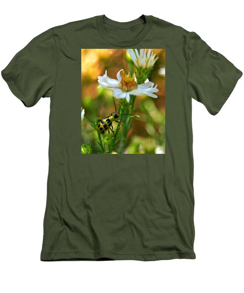 Spotted Cucumber Beetle On Aster Men's T-Shirt (Athletic Fit)