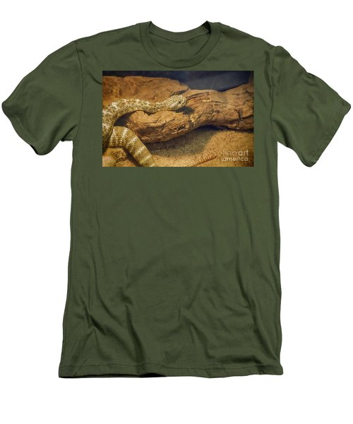 Spotted Rattlesnake   Blue Phase Men's T-Shirt (Slim Fit) by Anne Rodkin