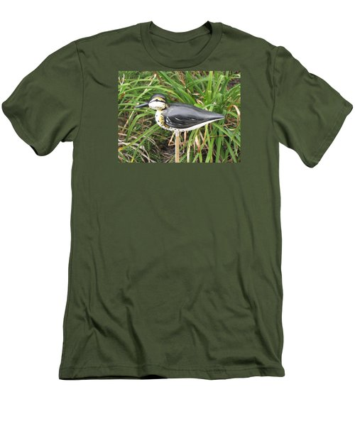 Men's T-Shirt (Slim Fit) featuring the sculpture Spotted Sandpiper  by Kevin F Heuman