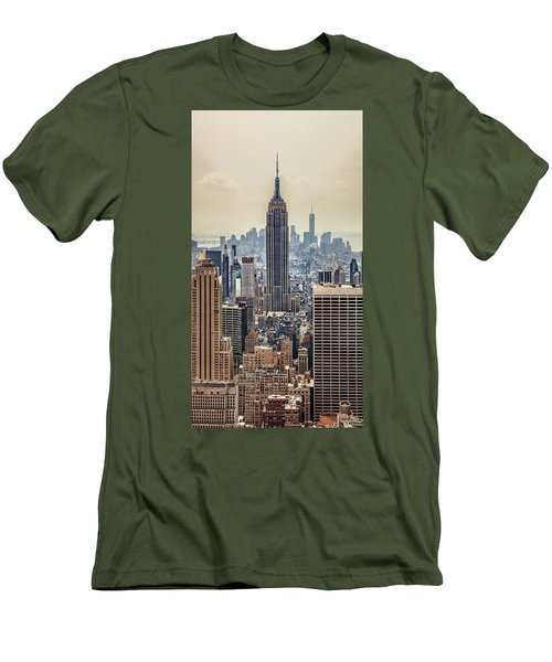 Sprawling Urban Jungle Men's T-Shirt (Slim Fit) by Az Jackson