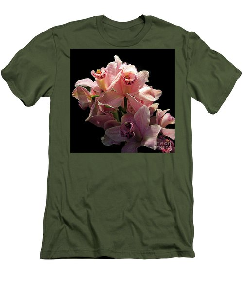Spray Of Pink Orchids Men's T-Shirt (Athletic Fit)
