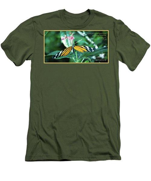 Spread Your Wings Men's T-Shirt (Slim Fit) by Deborah Klubertanz