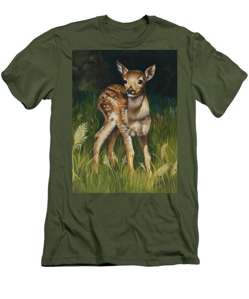 Spring Baby Fawn Men's T-Shirt (Athletic Fit)