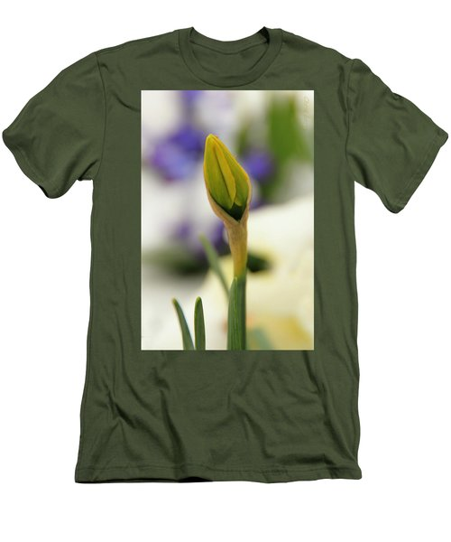 Men's T-Shirt (Slim Fit) featuring the photograph Spring Blooms In The Snow by Chris Berry