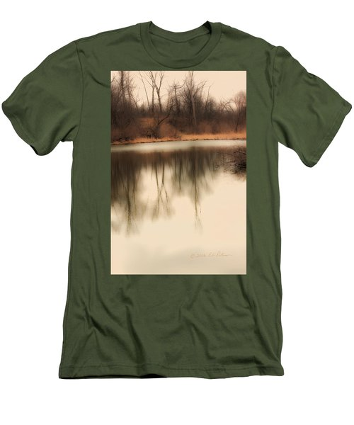 Men's T-Shirt (Slim Fit) featuring the photograph Spring Coming by Edward Peterson